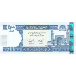 Afghanistan - Pick 73 - 500 afghanis - 2004 - Etat : SPL