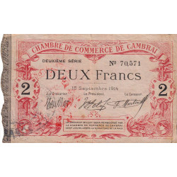 Cambrai - Pirot 37-13b - 2 francs - Etat : TTB
