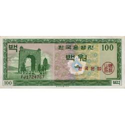 Corée du Sud - Pick 36 - 100 won - 1962 - Etat : TTB+