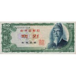 Corée du Sud - Pick 38 - 100 won - 1965 - Etat : TTB+