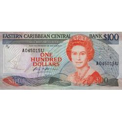 Est Caraïbes - Anguilla - Pick 24u - 100 dollars - 1988 - Etat : TTB