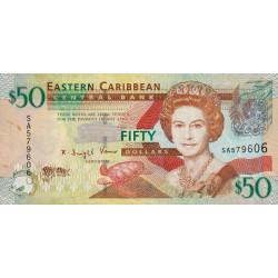 Etats de l'Est des Caraïbes - Pick 50 - 50 dollars - 2008 - Etat : TTB-
