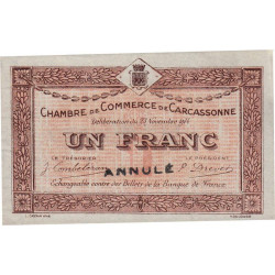 Carcassonne - Pirot 38-07 - 1 franc - Annulé - Etat : SUP+
