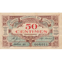 Région économique du Centre - Pirot 40-5 - 50 centimes - Etat : SUP-