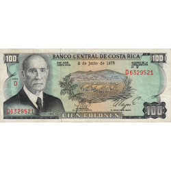Costa Rica - Pick 240 - 100 colones - 1975 - Etat : TTB