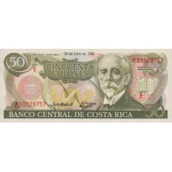 Costa Rica - Pick 257 - 50 colones - 1992 - Etat : NEUF