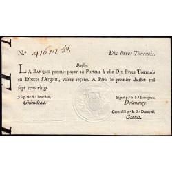 Law-Doreau 22 - 10 livres tournois- 1er juillet 1720 - Etat : SUP+ à SPL