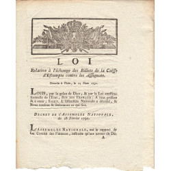 Assignat - Décret du 28 février 1791