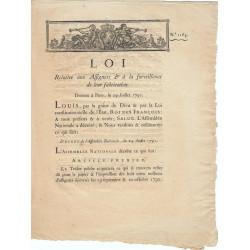 Assignat - Décret du 24 juillet 1791