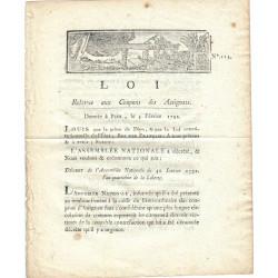 Assignat - Décret du 30 janvier 1792