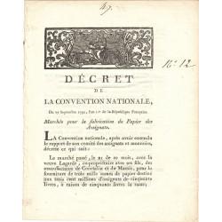 Assignat - Décret du 27 septembre 1792