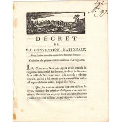 Assignat - Décret du 24 octobre 1792