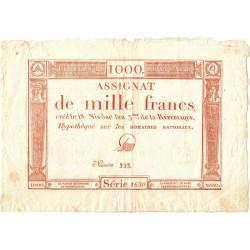 Assignat 50a - 1000 francs - 18 nivôse an 3 - Etat : SUP