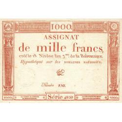 Assignat 50a - 1000 francs - 18 nivôse an 3 - Etat : SPL