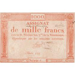 Assignat vérificateur 50v - 1000 francs - 18 nivôse an 3 - Etat : TTB+