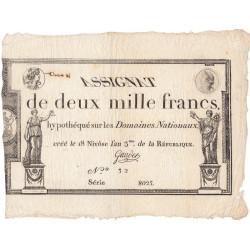 Assignat 51a - 2000 francs - 18 nivôse an 3 - Etat : SUP-