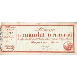 Promesse de mandat 60b - 100 francs - 28 ventôse an 4 - Etat : TTB-