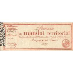 Promesse de mandat 60b - 100 francs - 28 ventôse an 4 - Etat : SUP+