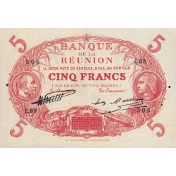 La Réunion - Pick 14-6 - 5 francs - 1930 - Etat : SUP
