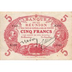 La Réunion - Pick 14-8 - 5 francs - 1944 - Etat : TTB+