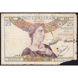La Réunion - Pick 23-3 - 25 francs - 1940 - Etat : AB