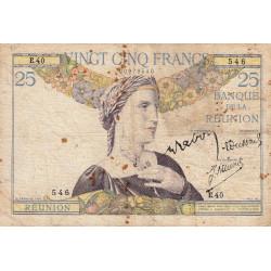La Réunion - Pick 23-4 - 25 francs - 1944 - Etat : TB-