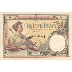 La Réunion - Pick 25-4 - 500 francs - 1940 - Etat : TB+ à TTB