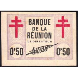 La Réunion - Pick 33 - 0,50 franc - 1943 - Etat : SUP+ à SPL