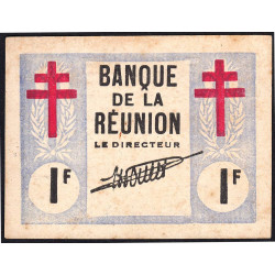 La Réunion - Pick 34 - 1 franc - 1943 - Etat : SUP+ à SPL