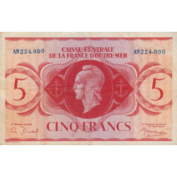 La Réunion - Pick 38 - 5 francs France Outre-Mer - 1944 - Etat : TTB