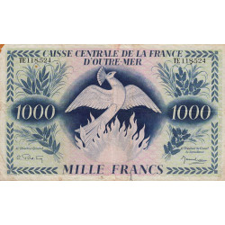 La Réunion - Pick 40-2 - 1'000 francs France Outre-Mer - 1944 - Etat : TB