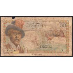 La Réunion - Pick 44 - 50 francs France Outre-Mer - 1947 - Etat : B