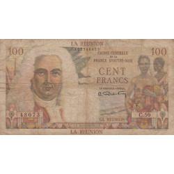La Réunion - Pick 45 - 100 francs France Outre-Mer - 1947 - Etat : B+