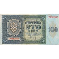 Croatie - Pick 2 - 100 kuna - 1941 - Etat : TTB
