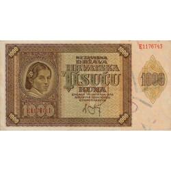 Croatie - Pick 4 - 1'000 kuna - 1941 - Etat : SUP