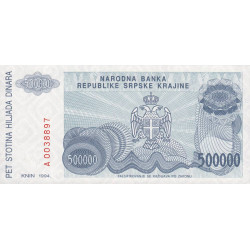 Krajina - Pick R32 - 50'000 dinars - 1994 - Etat : NEUF
