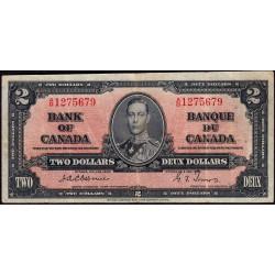 Canada - Pick 59a - 2 dollars - 1937 - Etat : TTB