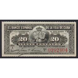 Cuba - Pick 53 - 20 centavos - 1897 - Etat : NEUF