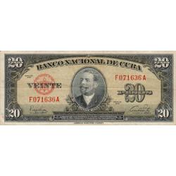 Cuba - Pick 80a - 20 pesos - 1949 - Etat : TTB+