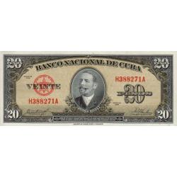 Cuba - Pick 80b - 20 pesos - 1958 - Etat : SPL