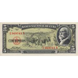 Cuba - Pick 91a - 5 pesos - 1958 - Etat : NEUF