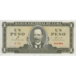 Cuba - Pick 94a - 1 peso - 1961 - Etat : NEUF