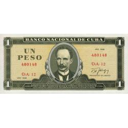 Cuba - Pick 102c - 1 peso - 1986 - Etat : NEUF