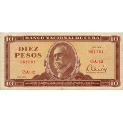 Cuba - Pick 104b - 10 pesos - 1978 - Etat : TTB