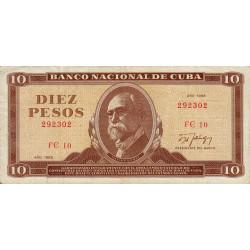 Cuba - Pick 104d - 10 pesos - 1988 - Etat : TTB