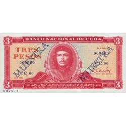 Cuba - Pick 107as - 3 pesos - 1984 - Spécimen - Etat : NEUF