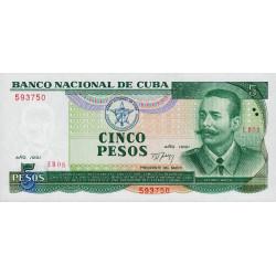Cuba - Pick 108 - 5 pesos - 1991 - Etat : NEUF