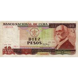 Cuba - Pick 109 - 10 pesos - 1991 - Etat : TB