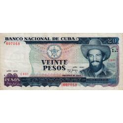 Cuba - Pick 110 - 20 pesos - 1991 - Etat : TTB