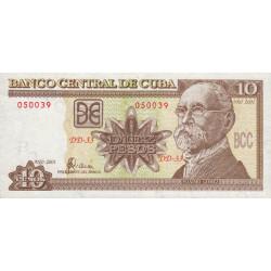 Cuba - Pick 117d - 10 pesos - 2001 - Etat : SUP